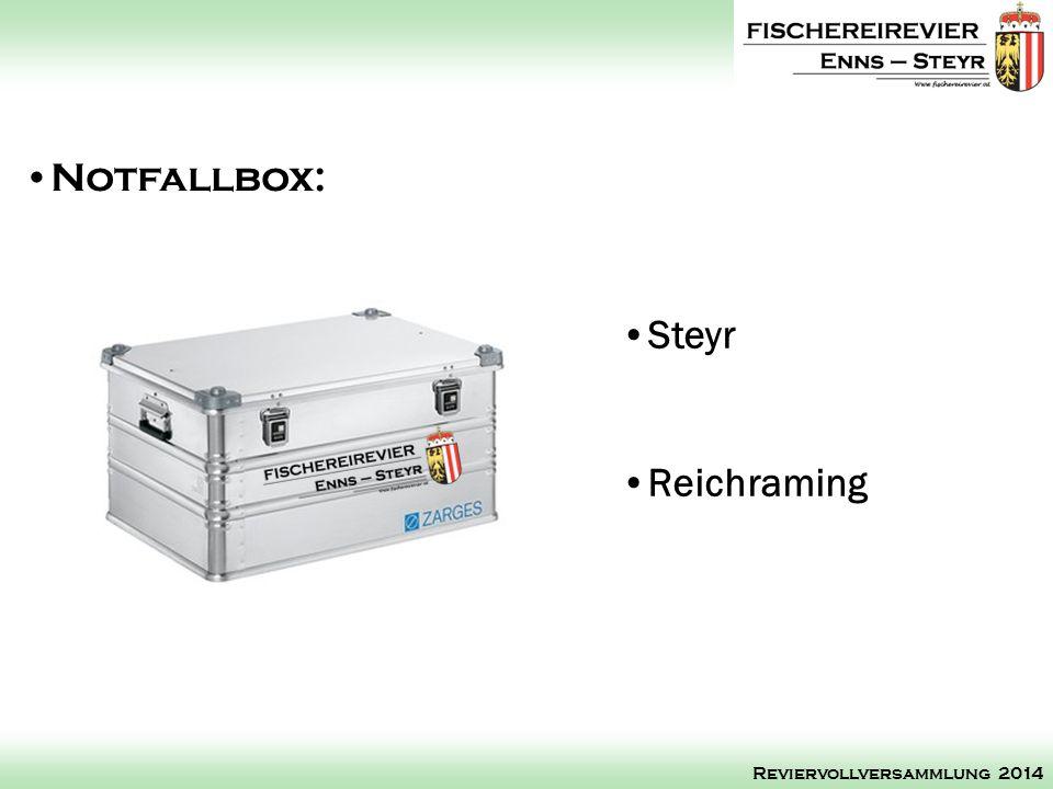 Notfallbox: Steyr Reichraming Reviervollversammlung 2014