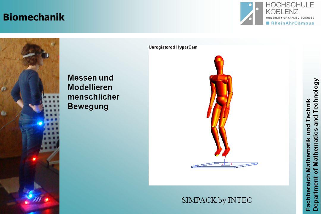 Biomechanik Messen und Modellieren menschlicher Bewegung