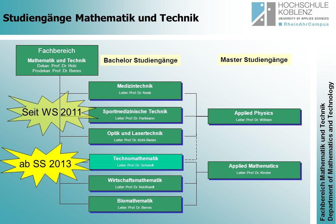 Studiengänge Mathematik und Technik