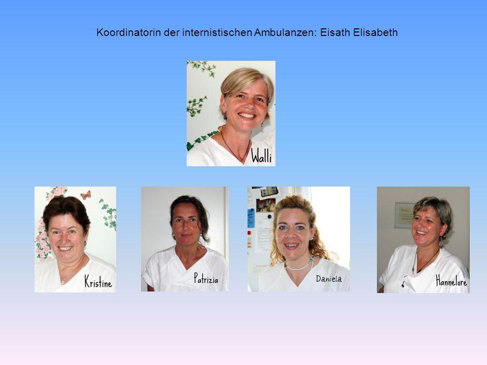 Koordinatorin der internistischen Ambulanzen: Eisath Elisabeth