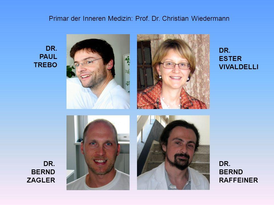Primar der Inneren Medizin: Prof. Dr. Christian Wiedermann