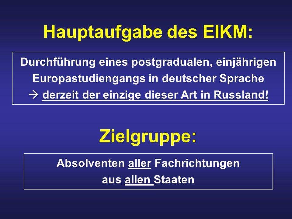 Hauptaufgabe des EIKM: