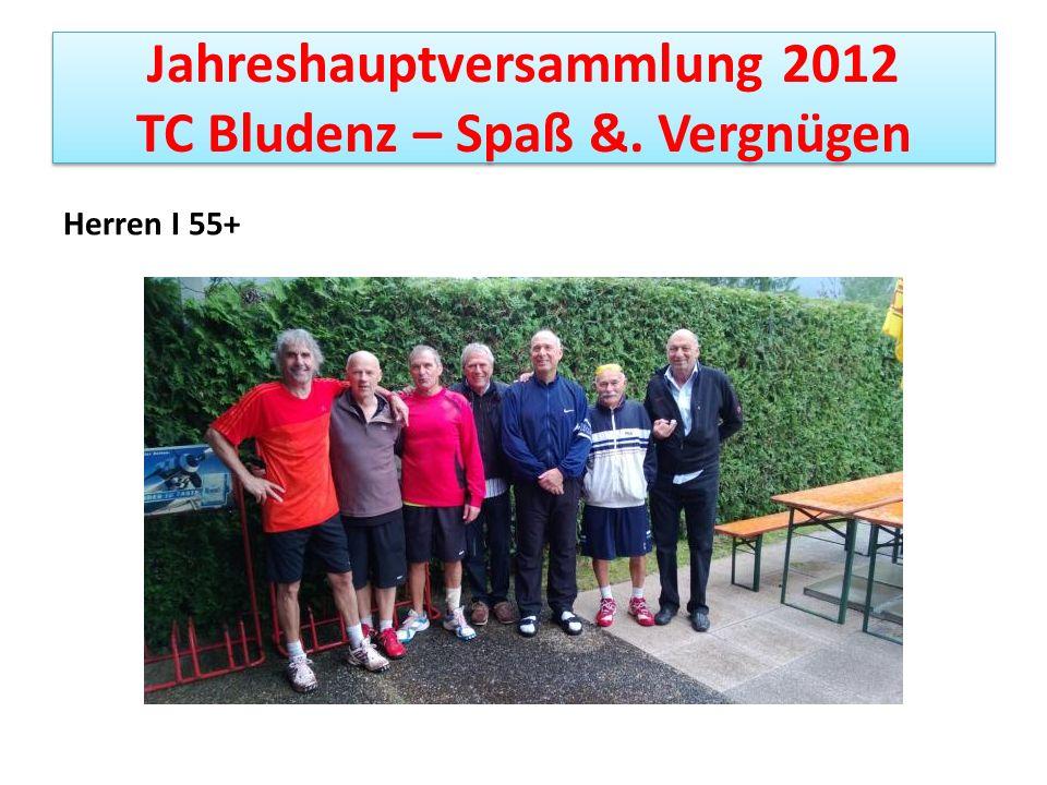 Jahreshauptversammlung 2012 TC Bludenz – Spaß &. Vergnügen
