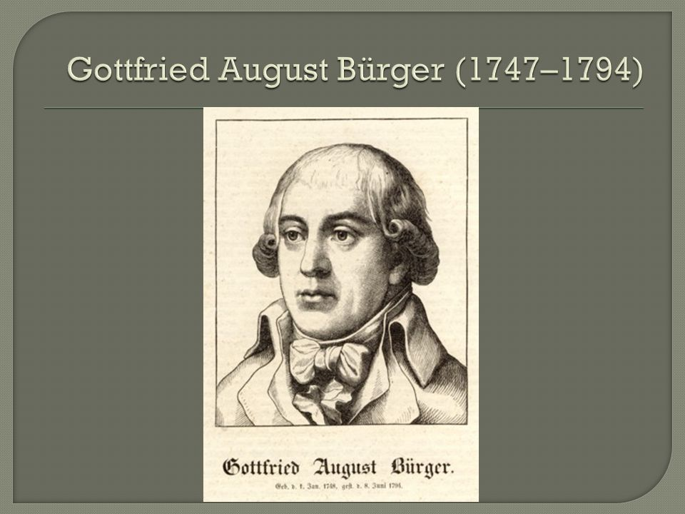 Gottfried August Bürger (1747–1794)