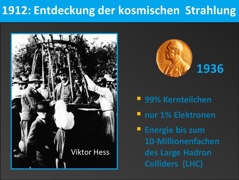 1912: Entdeckung der kosmischen Strahlung