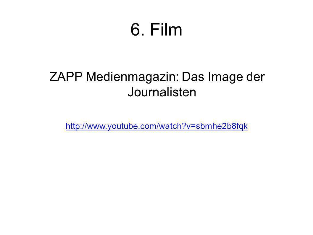 ZAPP Medienmagazin: Das Image der Journalisten
