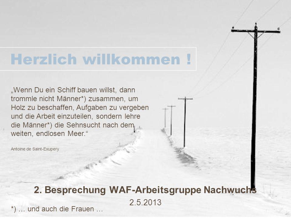 2. Besprechung WAF-Arbeitsgruppe Nachwuchs 2.5.2013