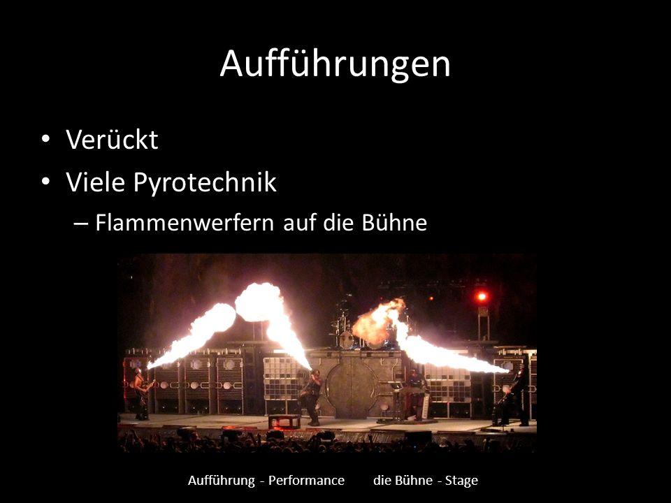 Aufführung - Performance die Bühne - Stage
