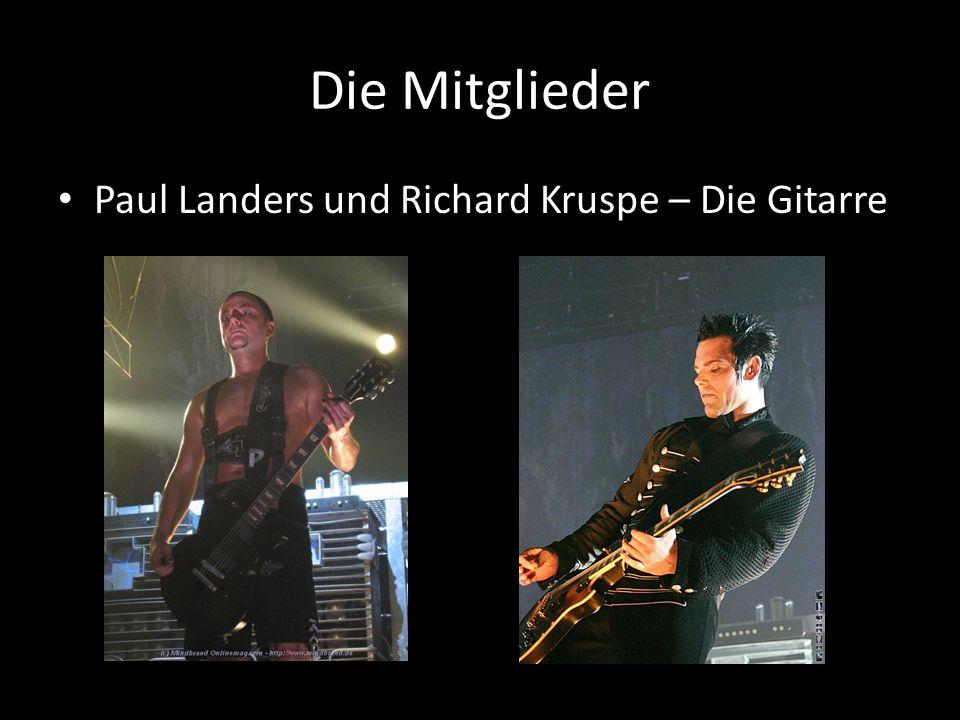 Die Mitglieder Paul Landers und Richard Kruspe – Die Gitarre
