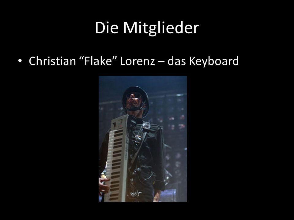 Die Mitglieder Christian Flake Lorenz – das Keyboard