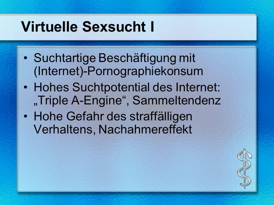Virtuelle Sexsucht I Suchtartige Beschäftigung mit (Internet)-Pornographiekonsum.