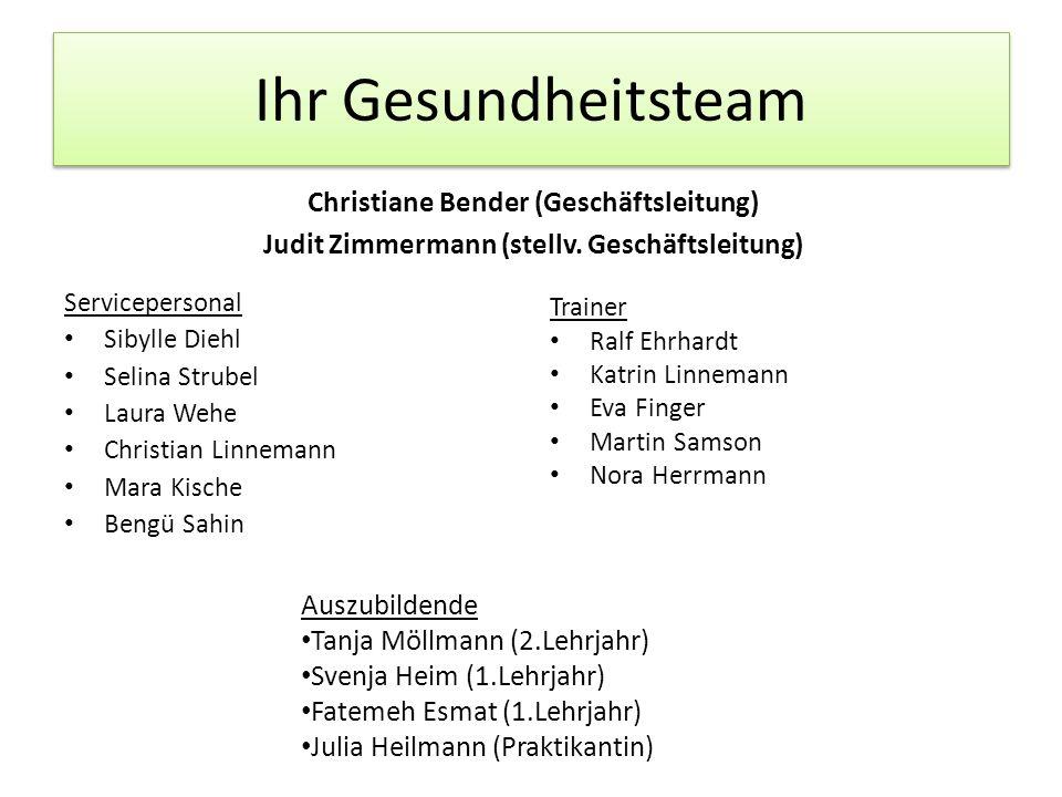 Ihr Gesundheitsteam Christiane Bender (Geschäftsleitung)