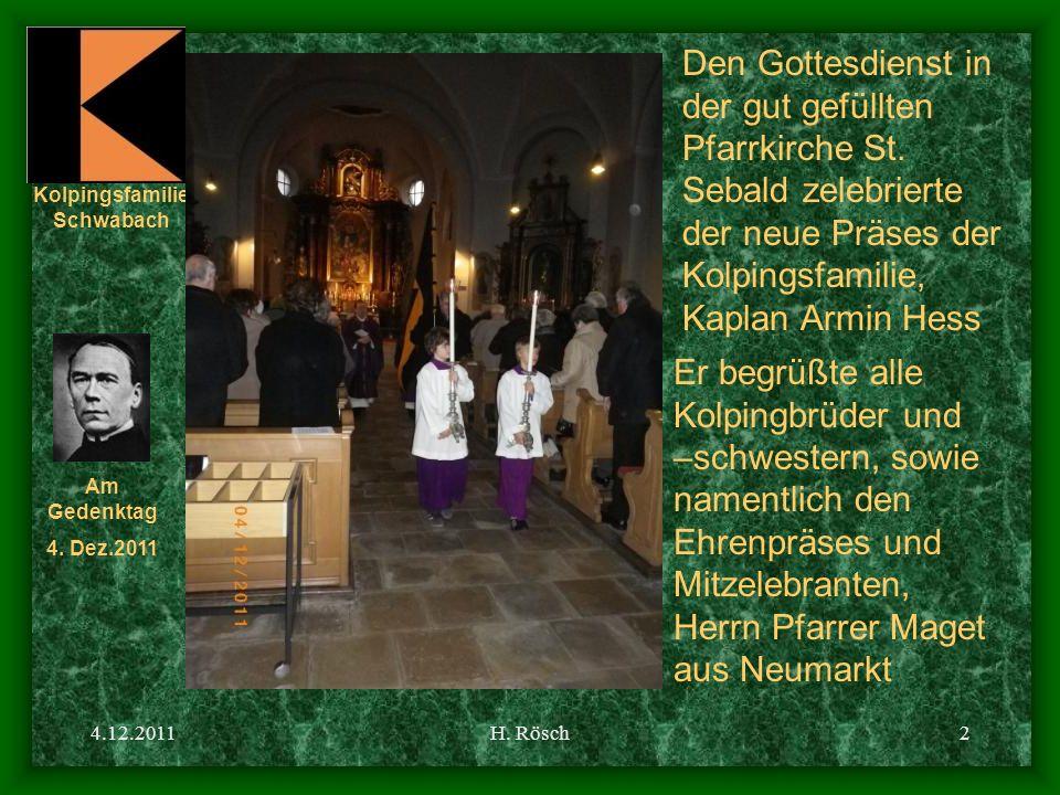 Den Gottesdienst in der gut gefüllten Pfarrkirche St