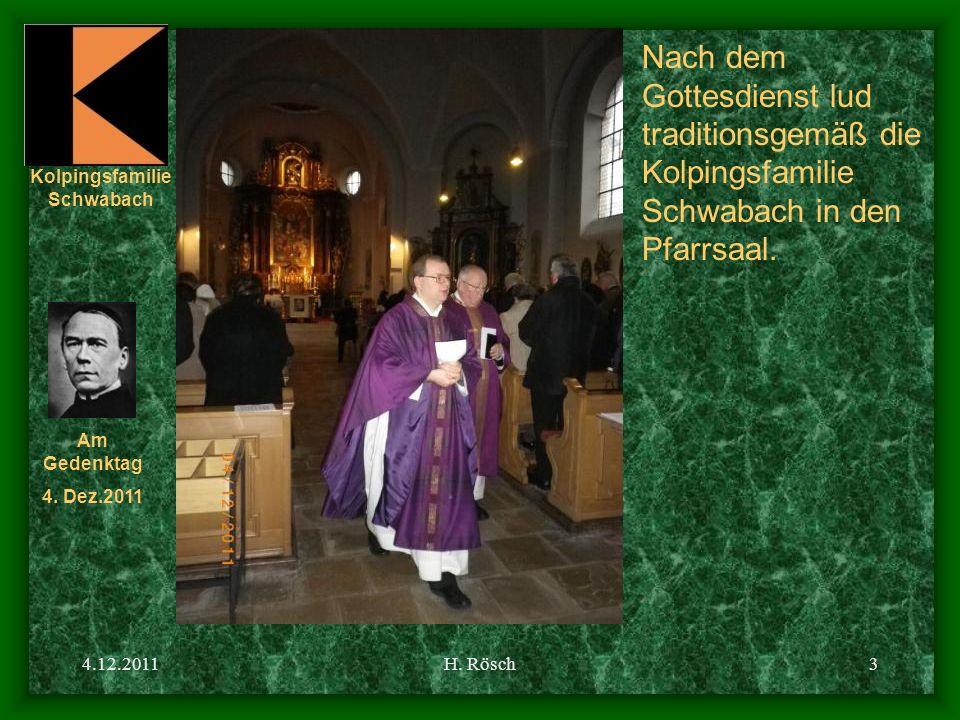 Nach dem Gottesdienst lud traditionsgemäß die Kolpingsfamilie Schwabach in den Pfarrsaal.