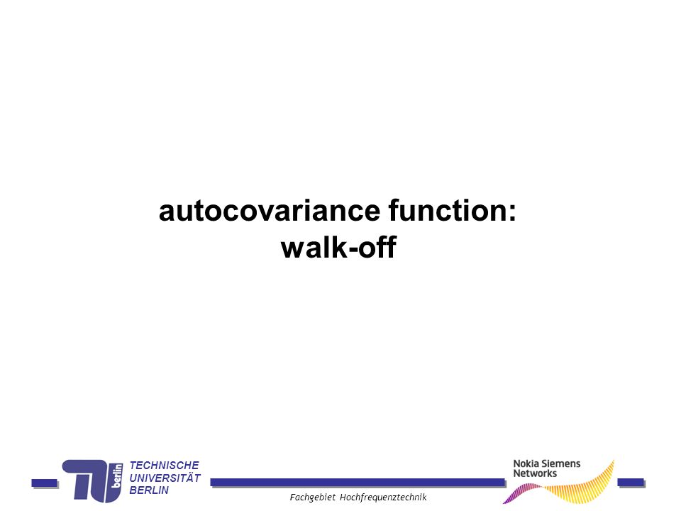 autocovariance function: walk-off