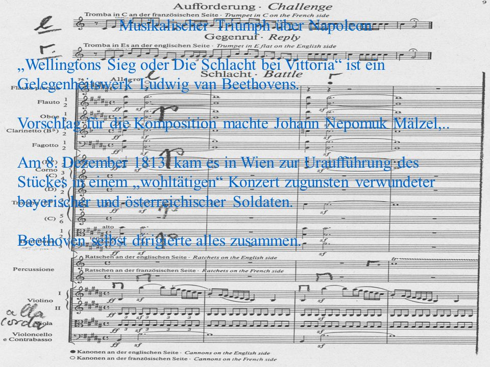 Musikalischer Triumph über Napoleon