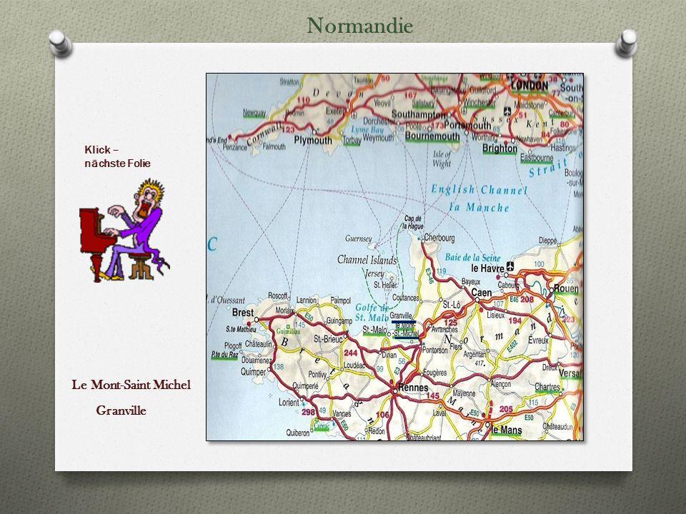 Normandie Klick – nächste Folie Le Mont-Saint Michel Granville