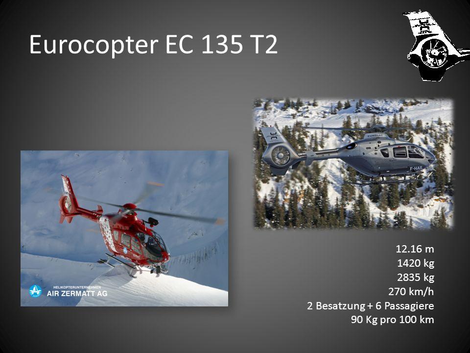 Eurocopter EC 135 T2 12.16 m 1420 kg 2835 kg 270 km/h