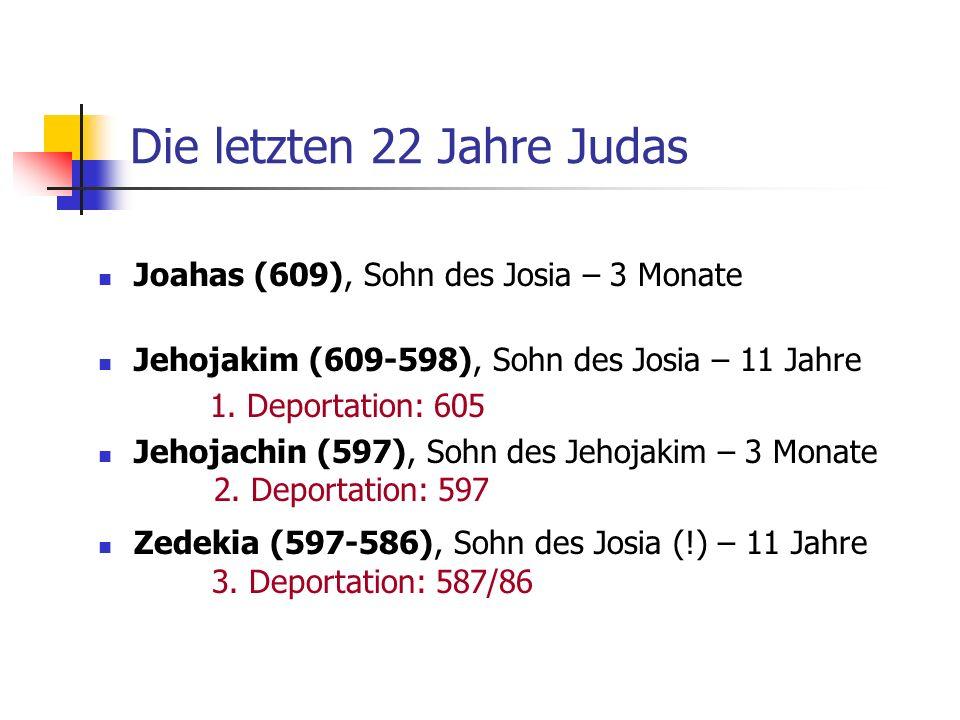 Die letzten 22 Jahre Judas