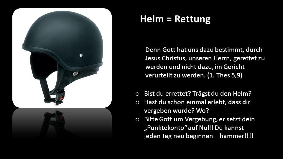 Helm = Rettung