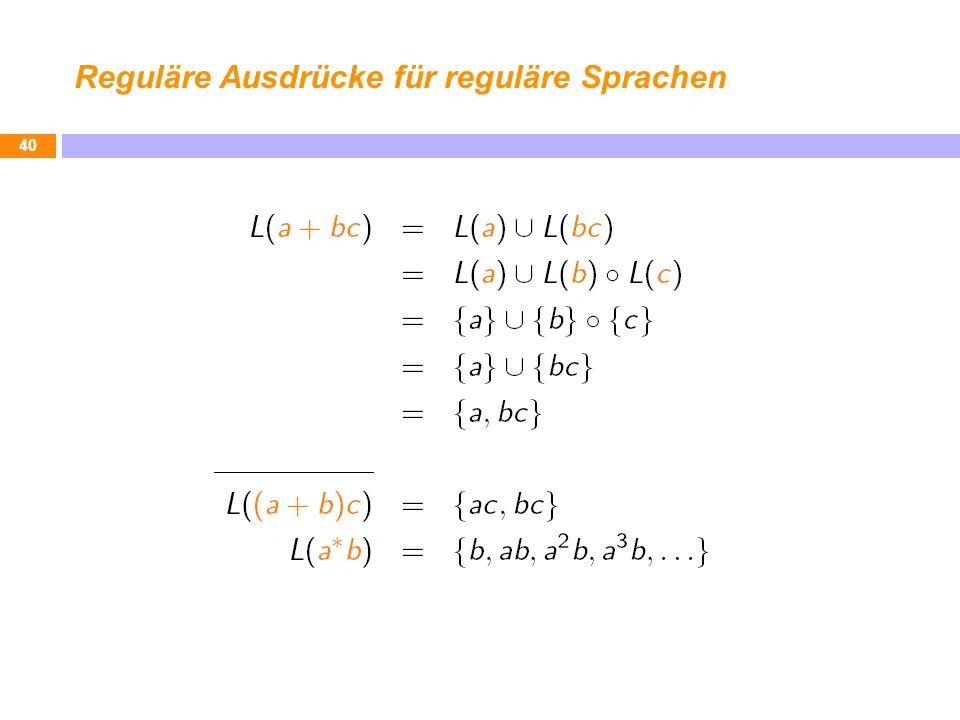 Reguläre Ausdrücke für reguläre Sprachen