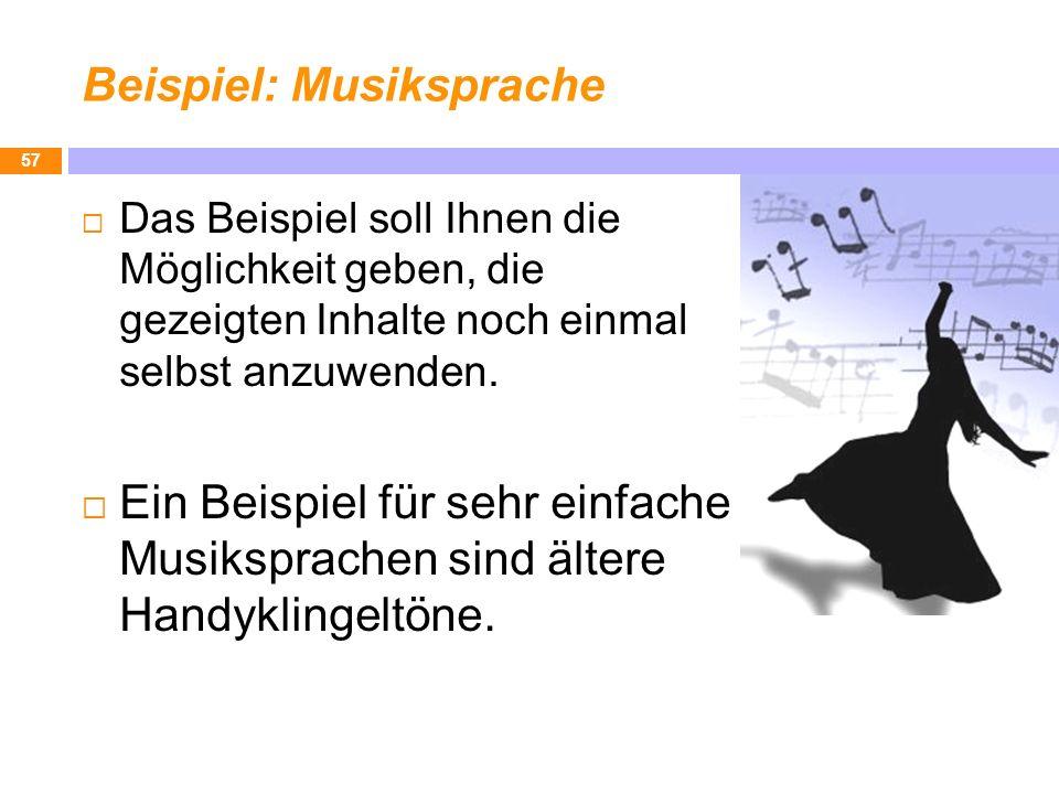 Beispiel: Musiksprache