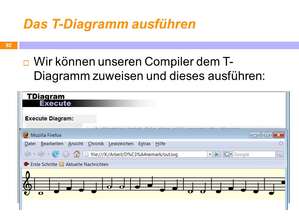 Das T-Diagramm ausführen