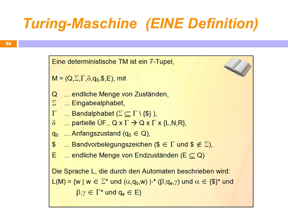 Turing-Maschine (EINE Definition)