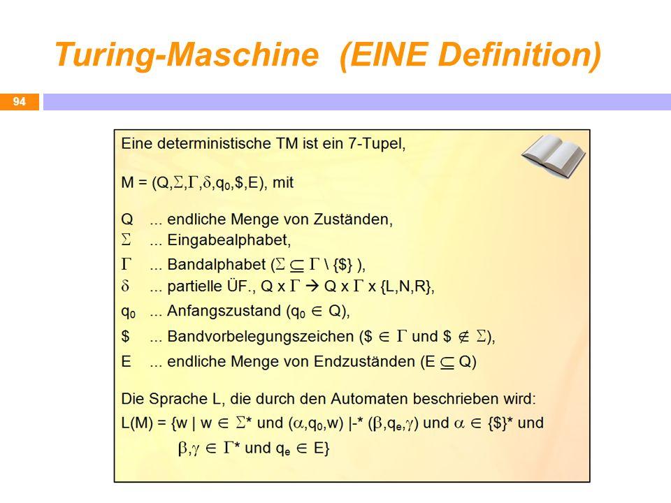 Turing-Maschine (EINE Definition)