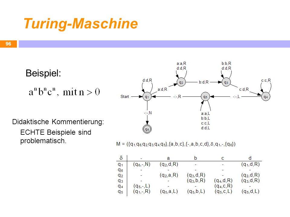 Turing-Maschine Beispiel: Didaktische Kommentierung: