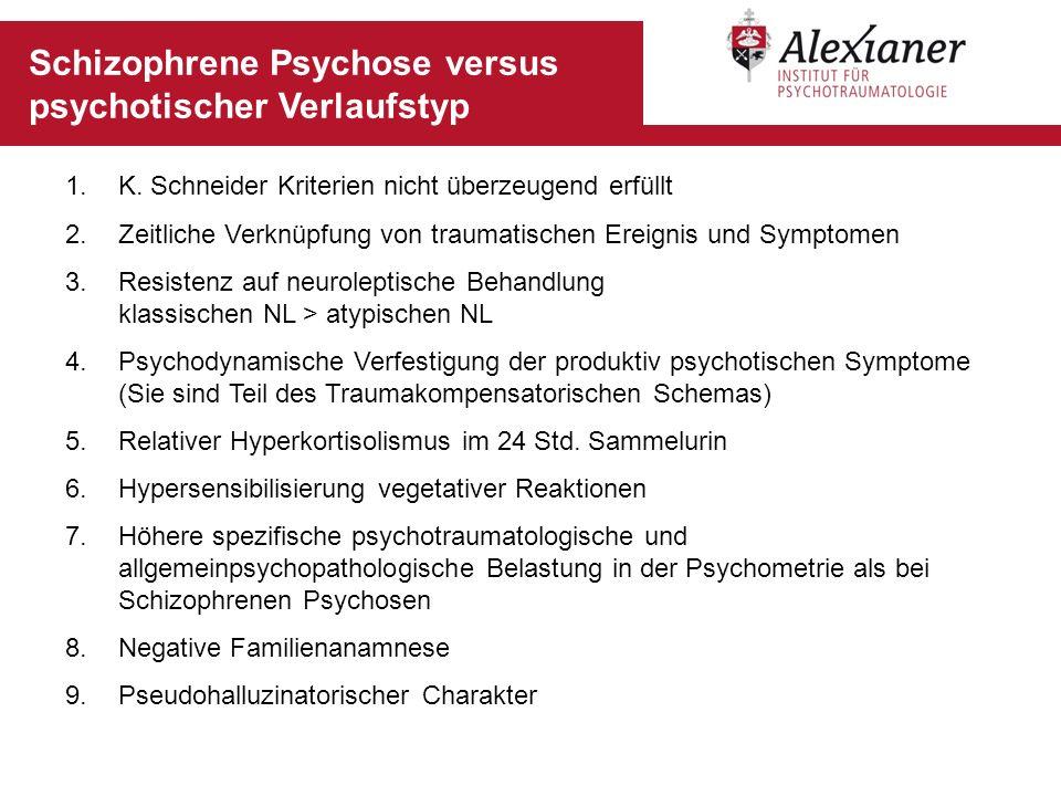 Schizophrene Psychose versus psychotischer Verlaufstyp