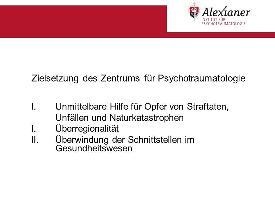 Zielsetzung des Zentrums für Psychotraumatologie