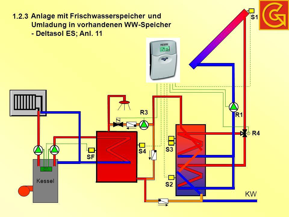 Anlage mit Frischwasserspeicher und