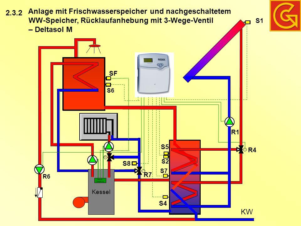 Anlage mit Frischwasserspeicher und nachgeschaltetem