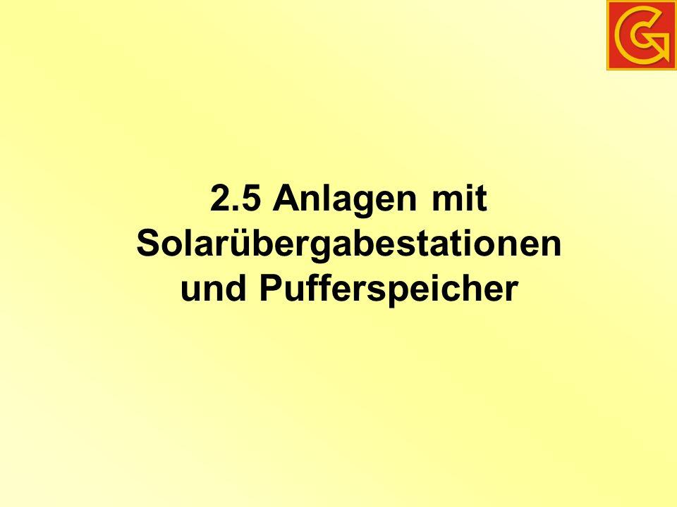 2.5 Anlagen mit Solarübergabestationen und Pufferspeicher