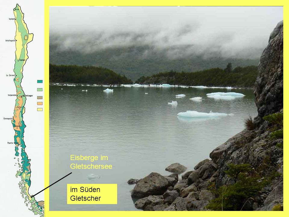 Gletscher Balmaceda Eisberge im Gletschersee im Süden Gletscher