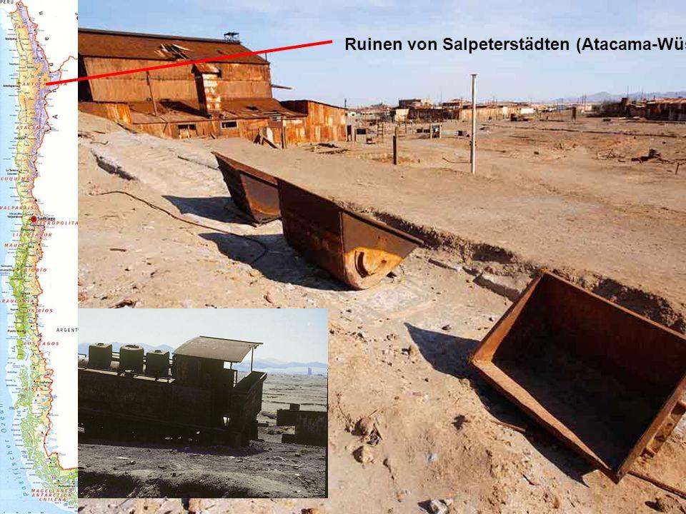 Ruinen von Salpeterstädten (Atacama-Wüste)