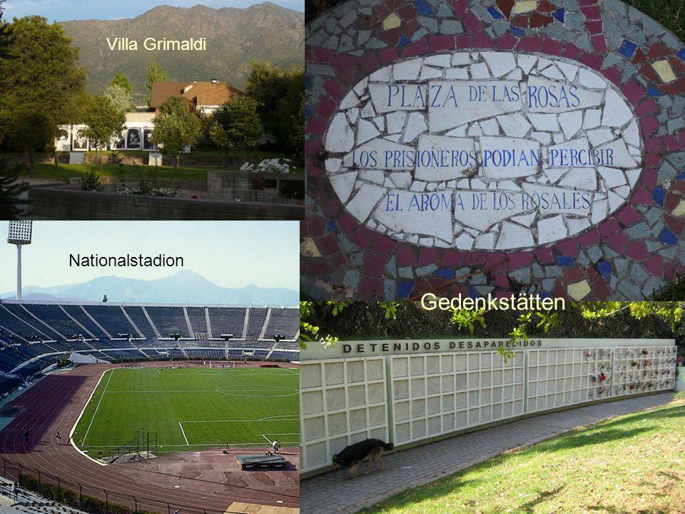 Villa Grimaldi Nationalstadion Gedenkstätten