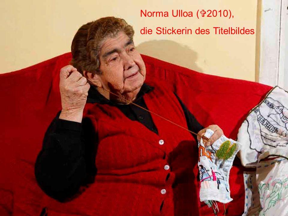 Norma Ulloa (2010), die Stickerin des Titelbildes