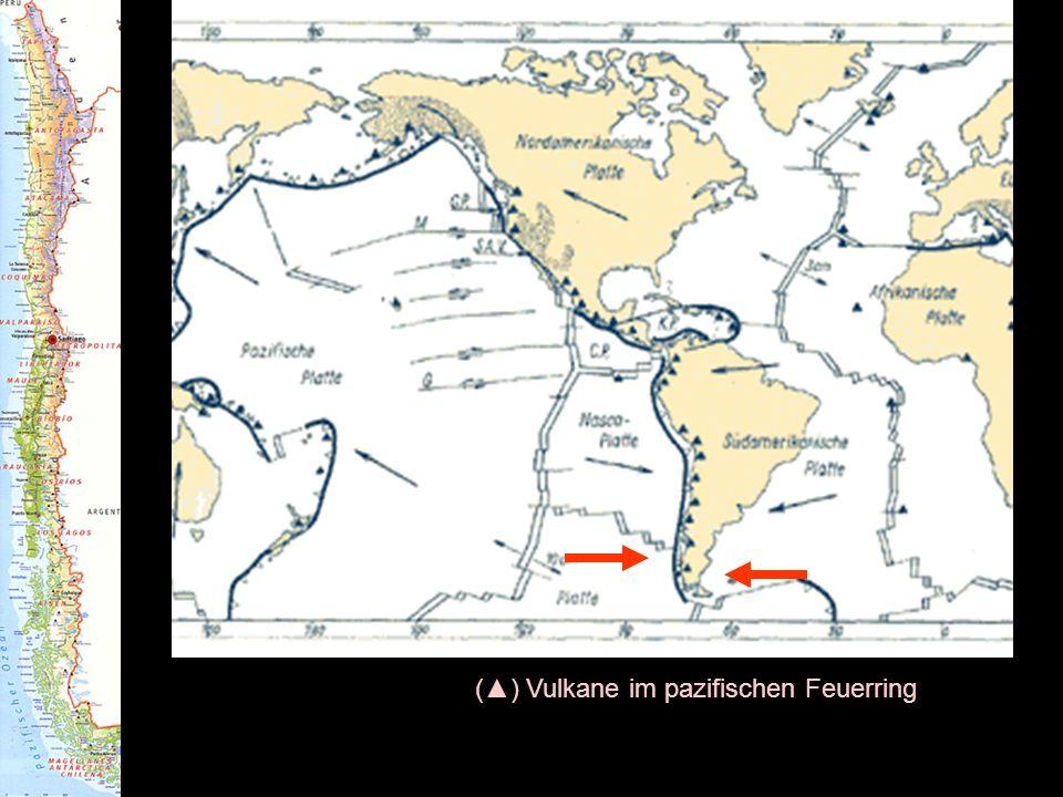 (▲) Vulkane im pazifischen Feuerring