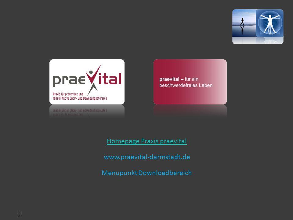 Homepage Praxis praevital www.praevital-darmstadt.de