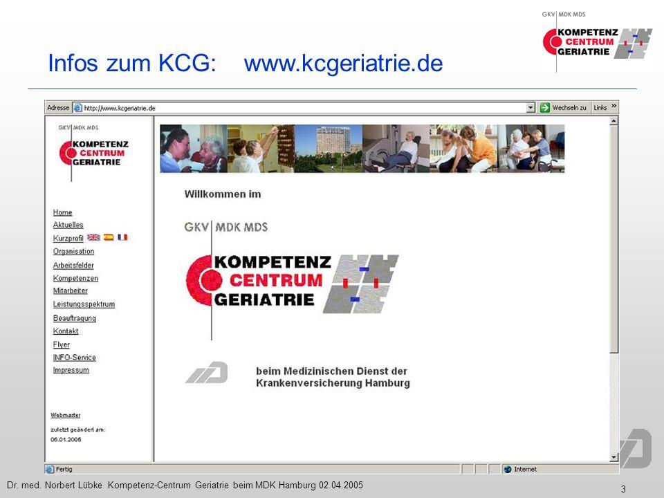 Infos zum KCG: www.kcgeriatrie.de