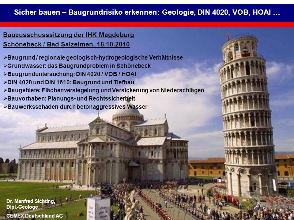 Sicher bauen – Baugrundrisiko erkennen: Geologie, DIN 4020, VOB, HOAI …