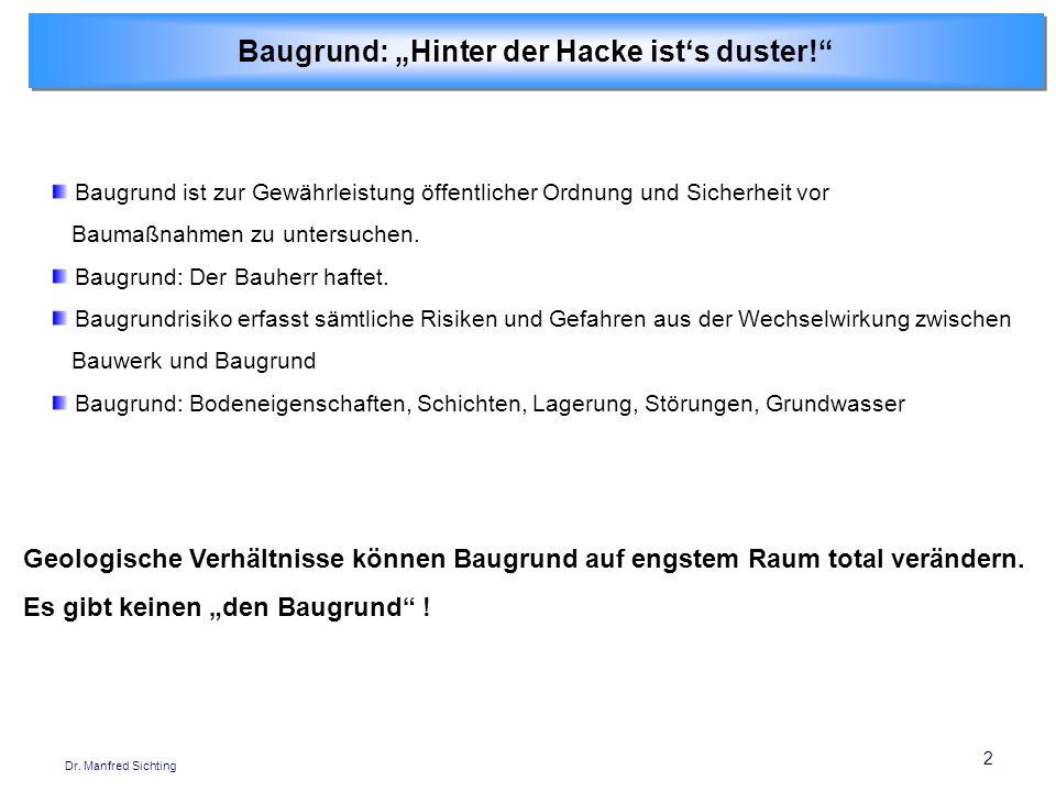 """Baugrund: """"Hinter der Hacke ist's duster!"""