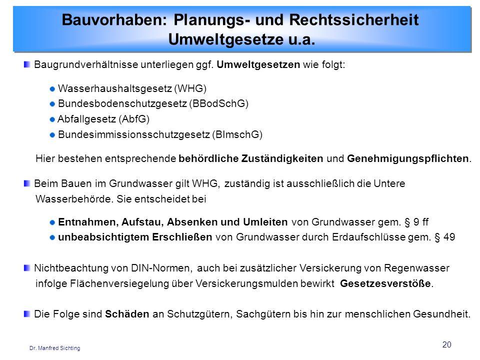 Bauvorhaben: Planungs- und Rechtssicherheit