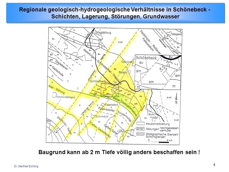 Regionale geologisch-hydrogeologische Verhältnisse in Schönebeck -