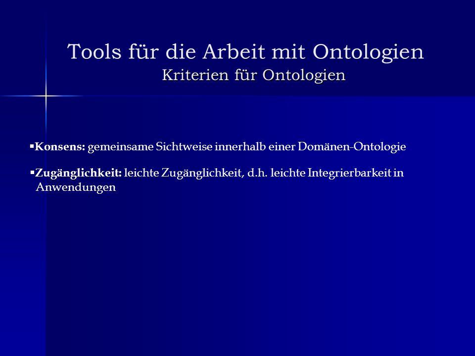 Kriterien für Ontologien