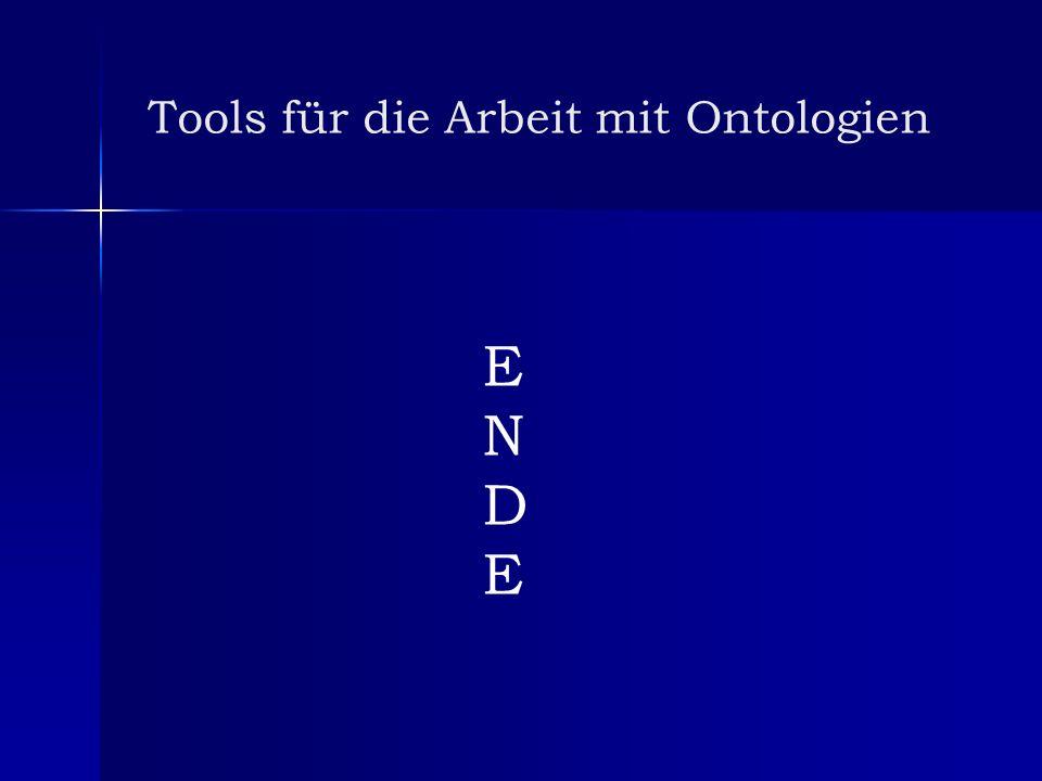 Tools für die Arbeit mit Ontologien