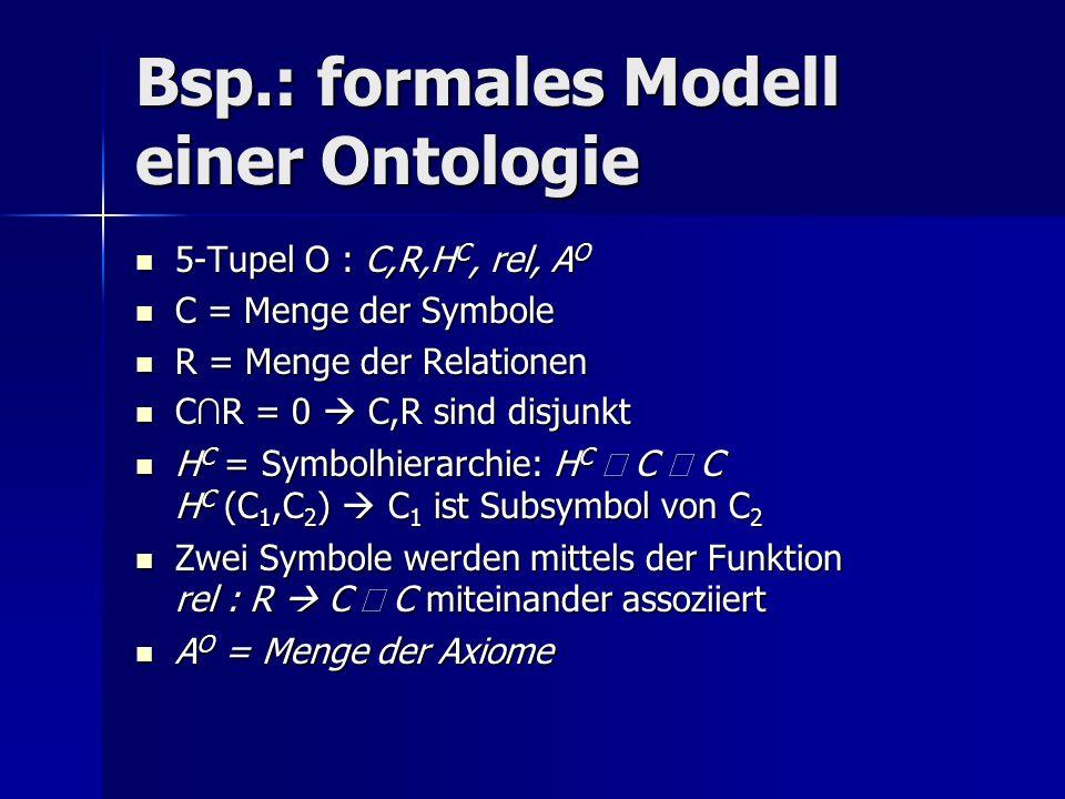 Bsp.: formales Modell einer Ontologie