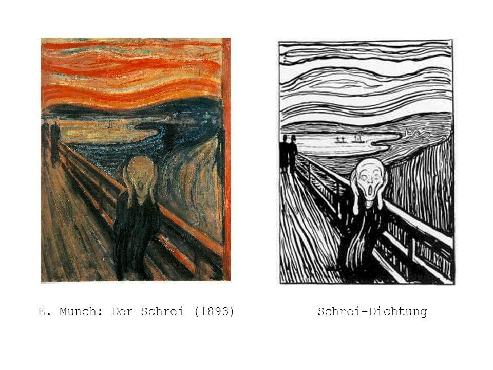 E. Munch: Der Schrei (1893) Schrei-Dichtung